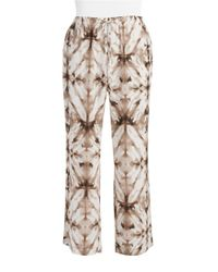 Calvin Klein | Natural Plus Tie-dyed Pants | Lyst