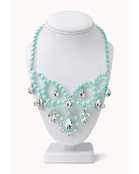 Forever 21 - Green Sweet Elegance Bib Necklace - Lyst