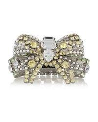 Miu Miu | Yellow Silver-Plated Swarovski Crystal Bracelet | Lyst