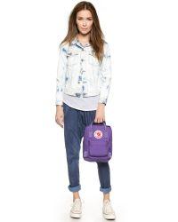 Fjallraven - Kanken Mini Backpack - Purple - Lyst