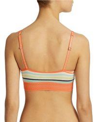 Splendid | Orange Essential Lace Bralette | Lyst