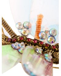 Manish Arora | Metallic Damselfly Brooch | Lyst