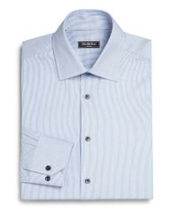 Saks Fifth Avenue | Blue Striped Cotton Dress Shirt for Men | Lyst