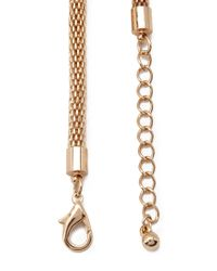 Forever 21 | Metallic Curb Chain Bib Necklace | Lyst