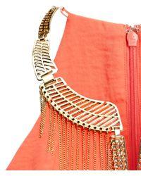 H&M | Orange Embellished Necklace Top | Lyst