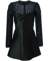 RED Valentino - Black Sweater Insert Mini Dress - Lyst