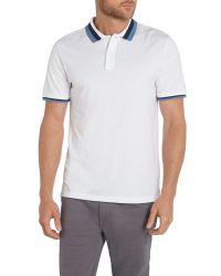 Michael Kors - White Regular Fit Tipper Collar Short Sleeve Polo Shirt for Men - Lyst