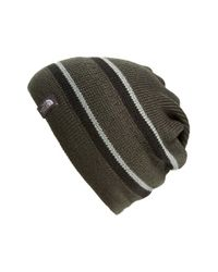 The North Face - Black 'check's In The Mail' Beanie for Men - Lyst
