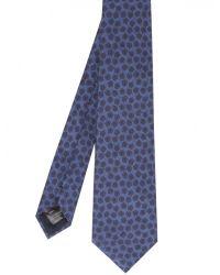 Jules B - Blue Wool Floral Tie for Men - Lyst