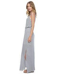 Splendid | Black Venice Stripe Maxi Dress | Lyst