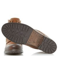 Dune - Brown Crush Leather Lace-up Boots for Men - Lyst