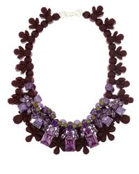 EK Thongprasert - Purple Burgundy and Lilac Silicone and Cubic Zirconia Necklace - Lyst