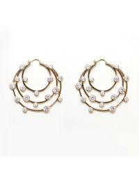 Noir Jewelry - Metallic Joyce Multi Cz Hoop Earrings - Lyst