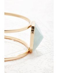 Forever 21 | Metallic Faux Stone Linear Arm Cuff | Lyst