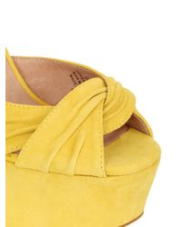 Jeffrey Campbell - Yellow 155Mm Donnas Suede Sandals - Lyst