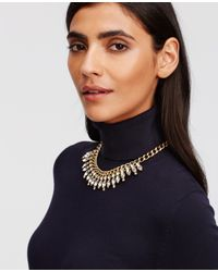 Ann Taylor | Metallic Marquis Crystal Necklace | Lyst