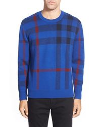 Burberry Brit - Blue 'redbury' Crewneck Sweater for Men - Lyst