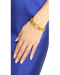 Noir Jewelry - Metallic Hello Kitty Bracelet - Gold - Lyst