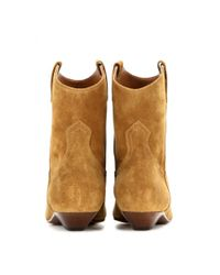 Saint Laurent - Brown Titi Suede Ankle Boots - Lyst