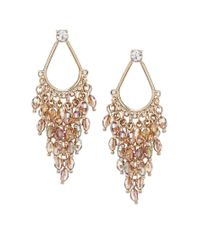 Oasis | Metallic Open Teardrop Facet Cascade Earrings | Lyst