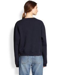 Acne Studios Blue Boxy Sidezip Sweatshirt