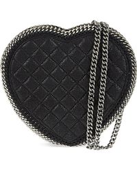 Stella McCartney | Black Quilted Heart Cross-body Bag | Lyst