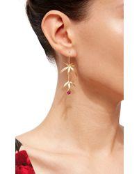 Annette Ferdinandsen | Metallic Long Wild Flower Earrings | Lyst