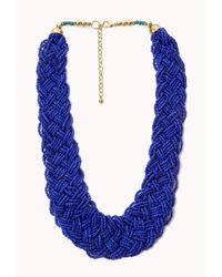 Forever 21 - Blue Statement Multibraided Choker - Lyst