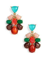 kate spade new york | Multicolor Colorful Stone Drop Earrings - Multi/ Red/ Gold | Lyst