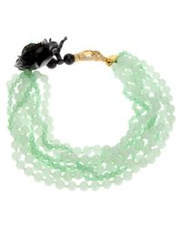Katerina Psoma | Green Multi Strand Agate Necklace | Lyst