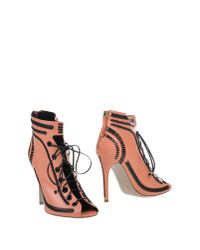 Daniele Michetti - Pink Ankle Boots - Lyst