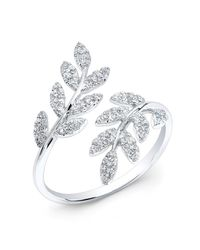 Anne Sisteron | Metallic 14kt White Gold Diamond Branch Ring | Lyst