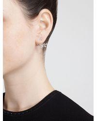 Yvonne Léon | Metallic Yvonne Léon Diamond Leaf Stud Earring | Lyst