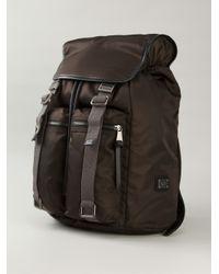 Dolce & Gabbana - Brown 'Etna' Backpack for Men - Lyst
