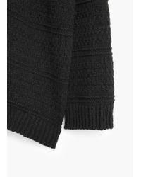 Mango - Black Cotton-blend Cardigan - Lyst
