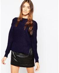 Gestuz - Black High Neck Sweater - Lyst