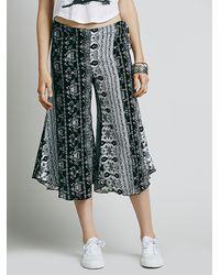Free People | Black Bondi Printed Culottes | Lyst