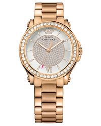 Juicy Couture - Pink Women's Pedigree Rose Gold Ion-plated Steel Bracelet Watch 38mm 1901233 - Lyst