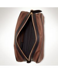 Polo Ralph Lauren - Brown Leather Carrying Case for Men - Lyst