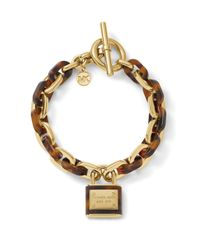 Michael Kors - Brown Status Link Toggle Bracelet - Lyst
