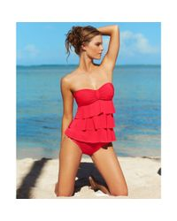 Kenneth Cole Reaction - Red Solid Hipster Bikini Bottom - Lyst