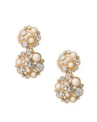 kate spade new york | Metallic Pick A Pearl Drop Earrings | Lyst