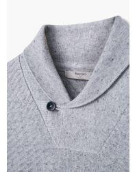Mango | Gray Shawl Collar Sweater for Men | Lyst