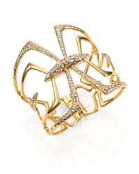 Alexis Bittar | Metallic Miss Havisham Kinetic Crystal Mirrored Bracelet | Lyst