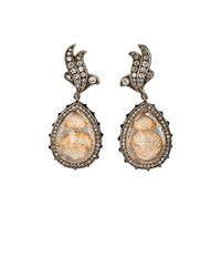 Sevan Biçakci - Metallic Intaglio Drop Earrings - Lyst
