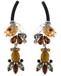 Marni | Metallic Strass Clip-on Earrings | Lyst