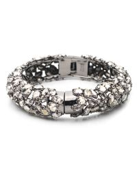 Alexis Bittar - Metallic Empire Small Pavo Crystal Encrusted Hinge Bracelet - Lyst