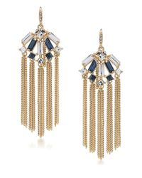 Carolee | Blue Stone Fringe Chandelier Earrings | Lyst