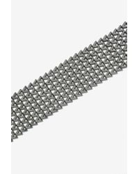Nasty Gal - Gray Charmed Collar Necklace - Gunmetal - Lyst