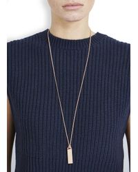 Marc By Marc Jacobs | Metallic Rose Gold Id Pendant Necklace | Lyst